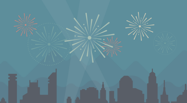WordPress Fireworks for Annnual report