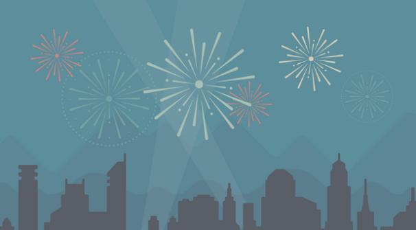 WordPress Fireworks for Annnual report