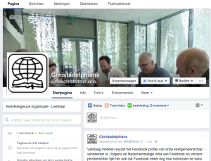 Beginning of the Christadelphian Facebook page - 2016/07/11